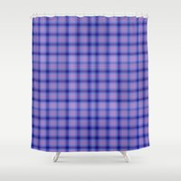preppy Shower Curtains featuring Purple Plaid Preppy by michaelrosen