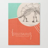 dinosaurs Canvas Prints featuring dinosaurs by sydneydiana
