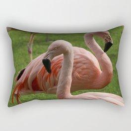 Real flamingos with scary eyes Rectangular Pillow