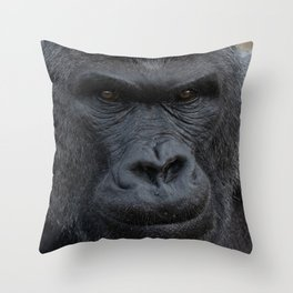 Silverback Stare Throw Pillow