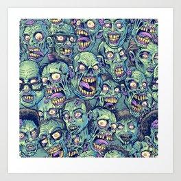 Zombie Repeatable Pattern Art Print