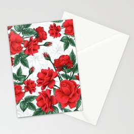 The Red Roses #Spring #Flowers Stationery Cards
