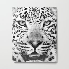 Leopard, Animal, Scandinavian, Minimal, Trendy decor, Interior, Wall art Art Metal Print