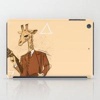gangster iPad Cases featuring Gangster Giraffe by Ichorteeth