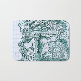 Encre vert Bath Mat