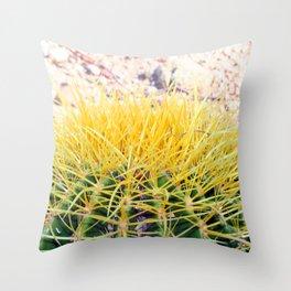 Golden Barrel Throw Pillow