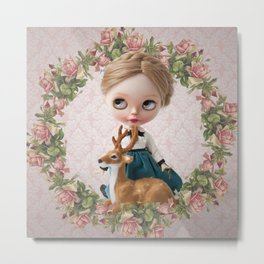 ERREGIRO BLYTHE DOLL NONNA FLOWER CROWN Metal Print