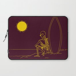 No waves, just waiting and relax (forever)... Laptop Sleeve