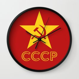 Star Hammer Sickle CCCP Design Wall Clock