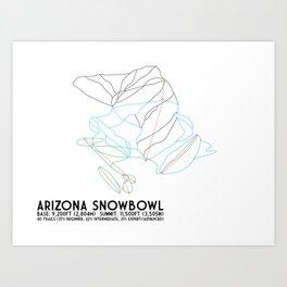 Arizona Snowbowl, AZ - Minimalist Winter Trail Art Art Print