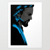 eddie vedder Art Prints featuring Eddie Vedder portrait poster by Rafal Topolski