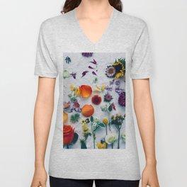 Assorted Flowers Unisex V-Neck