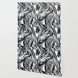 Marbled Black Wallpaper