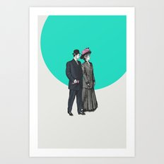 Sunday Stroll Art Print