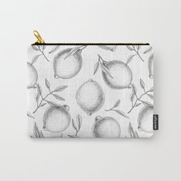 Hand drawn Lemon pattern Carry-All Pouch