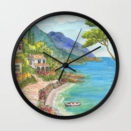 Seaside Village Wall Clock