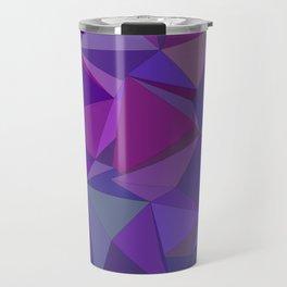 Chaotic purple tiles Travel Mug
