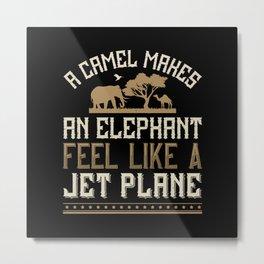 Elephant Quote - 01 Metal Print