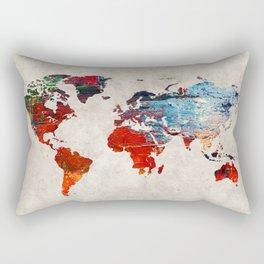 World Map 60 Rectangular Pillow