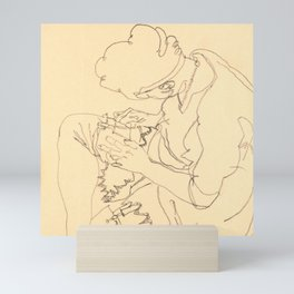 "Egon Schiele ""Seated woman"" Mini Art Print"