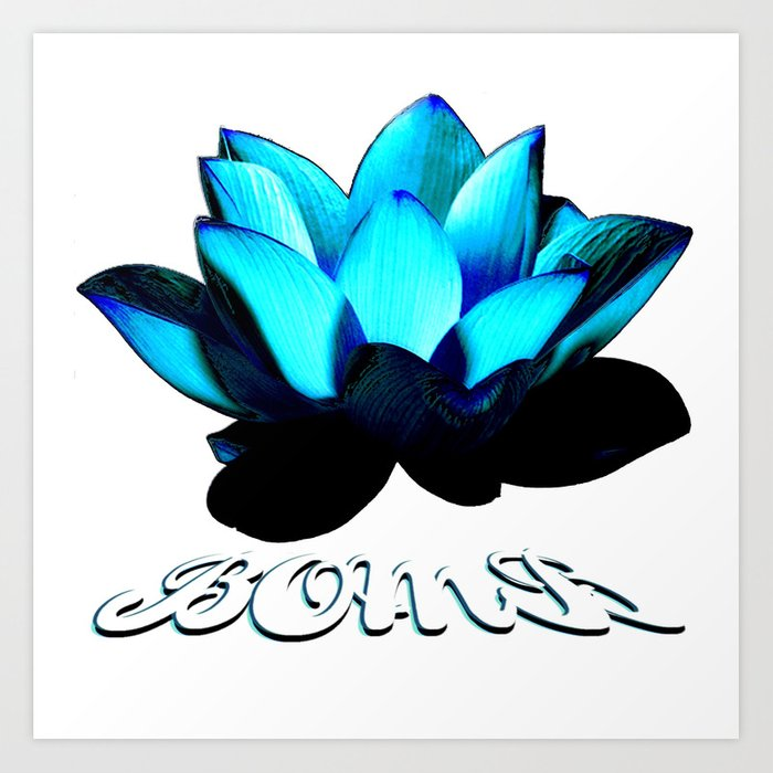 Lotus Flower Bomb Art Print By Mickeyfigueroa Society6
