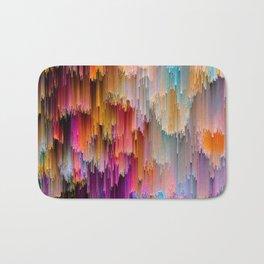 Light meets Dark Colorful Glitch Art Badematte
