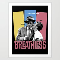 godard Art Prints featuring Breathless by Douglas Simonson