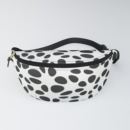 Warped Polka Dots. Black. Fanny Pack