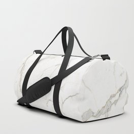 White marble tiles rock stone statues Duffle Bag