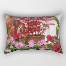 Pink Plants Rectangular Pillow