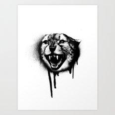 Cheetah Spray Paint Art Print