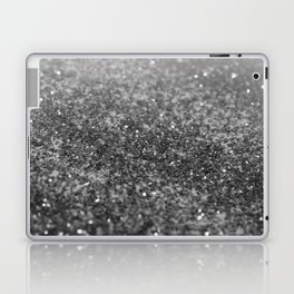 Silver Gray Black Glitter #2 (Faux Glitter - Photography) #shiny #decor #art #society6 Laptop & iPad Skin