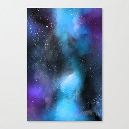 Blue Purple Galaxy Watercolor Artwork Canvas Print