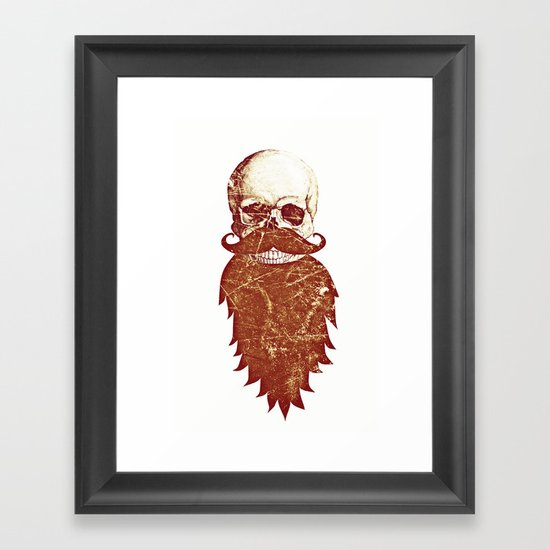 Beard Skull 2 Framed Art Print