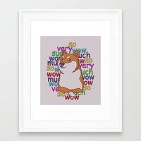 doge Framed Art Prints featuring Doge  by Corinna Schlachter
