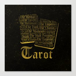 Tarot Major Arcana Word Art Canvas Print