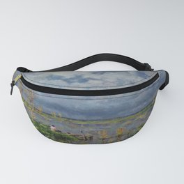 Boat amid the lilies (Pêche_aux_anguilles) by Isidore Verheyden Fanny Pack