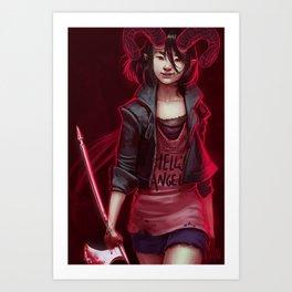 Devil (#Drawlloween2016 Series) Art Print