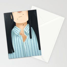 Natural Hair (Straight) Stationery Cards