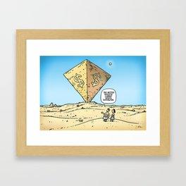 Pyramid of Wealth Framed Art Print