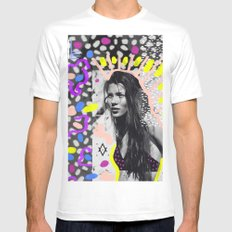 Kate Moss Tribal Far East White MEDIUM Mens Fitted Tee