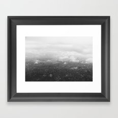 Tokyo under clouds Framed Art Print
