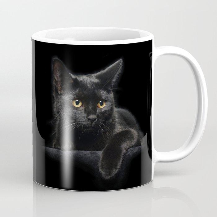 Black Cat Coffee Mug By Fantasyartdesigns Society6