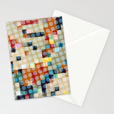 dots meet pixels Stationery Cards