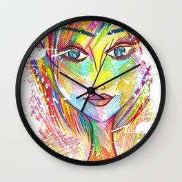 """""""What if I Fall? """"Oh, But My Darling, What if You Fly?"""" Wall Clock"""
