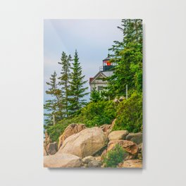 Bass Harbor Lighthouse Through the Forest Print Metal Print