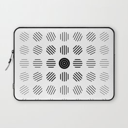 Black and White centered lines Laptop Sleeve