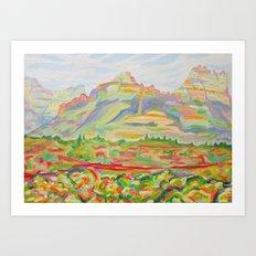 SEDONA HILLS Art Print
