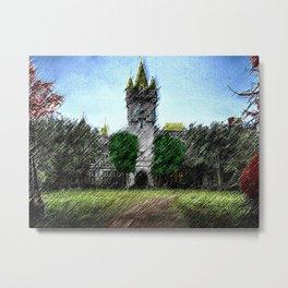 Abandoned Castle Landscape by Jeanpaul Ferro Metal Print