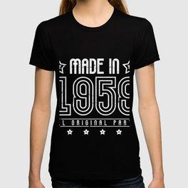 Made In 1959 60. Geburtstag T-Shirt T-shirt